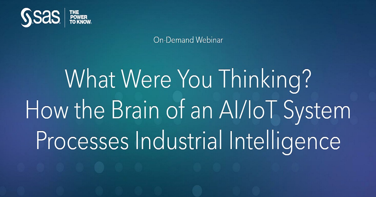 What Were You Thinking? How the Brain of an AI/IoT System Processes Industrial Intelligence