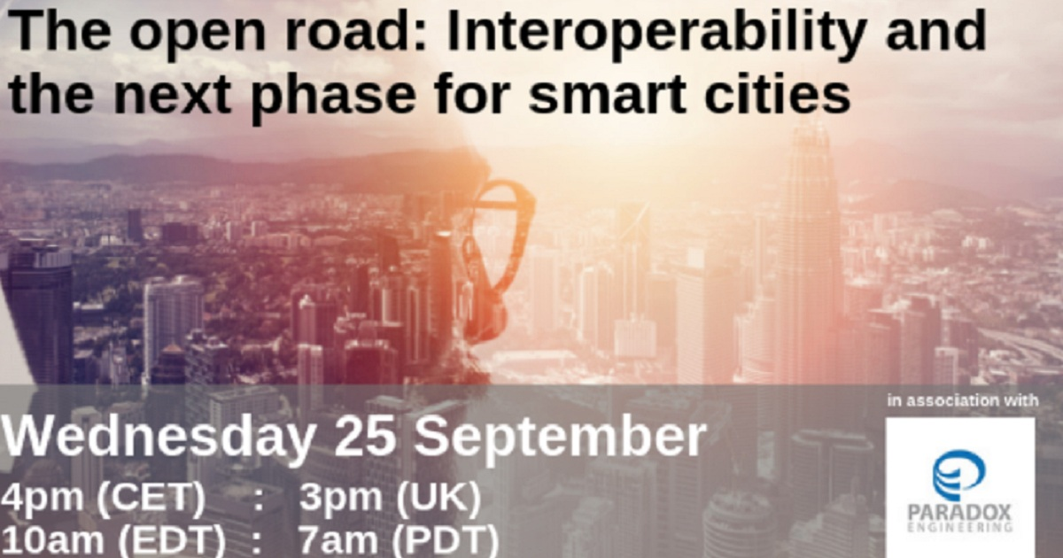 The open road:Interoperability and the next phase for smart cities