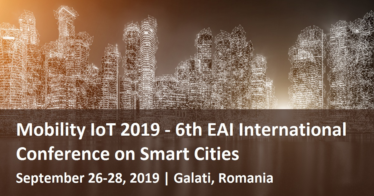 Mobility IoT 2019 - 6th EAI International Conference on Smart Cities