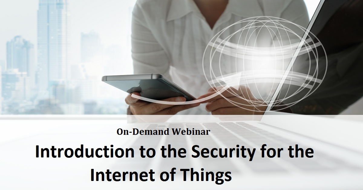 Introduction to the Security for the Internet of Things