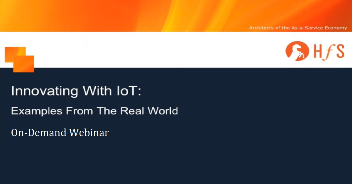 INNOVATING WITH IOT--EXAMPLES FROM THE REAL WORLD