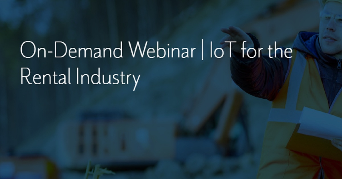IoT for the Rental Industry