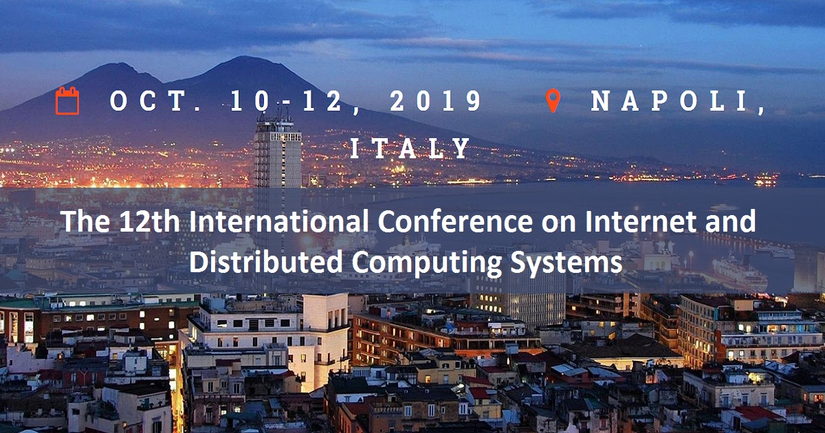 The 12th International Conference on Internet and Distributed Computing Systems