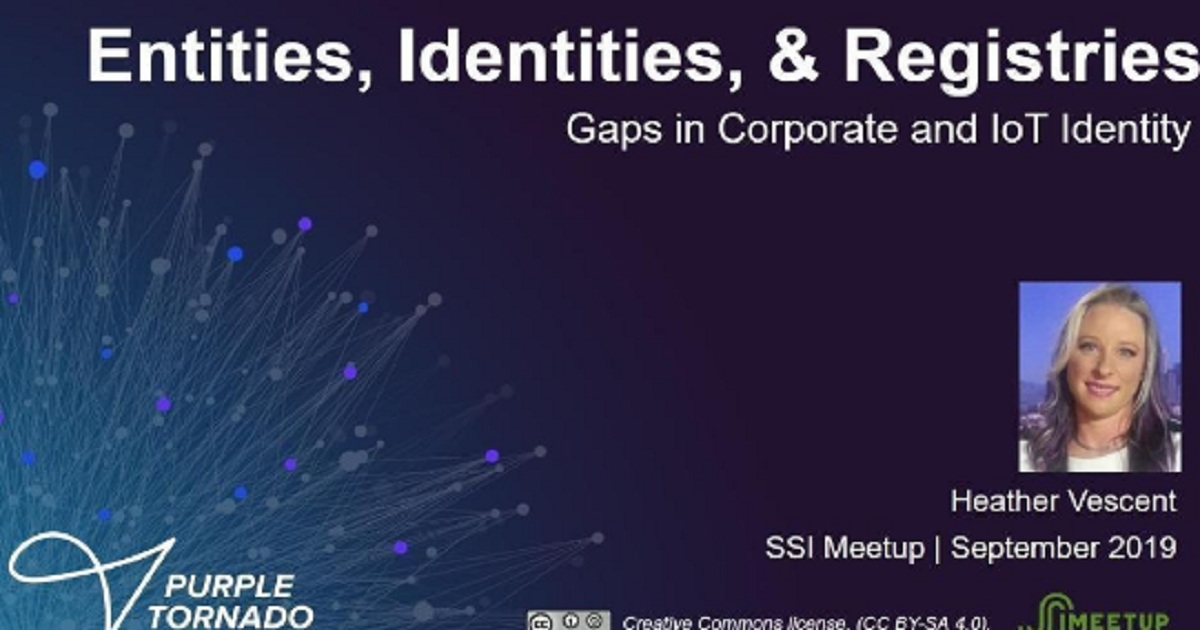 Gaps in Corporate and IoT Identity - Heather Vescent