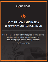 WHY AI? HOW LANGUAGE & AI SERVICES GO HAND-IN-HAND