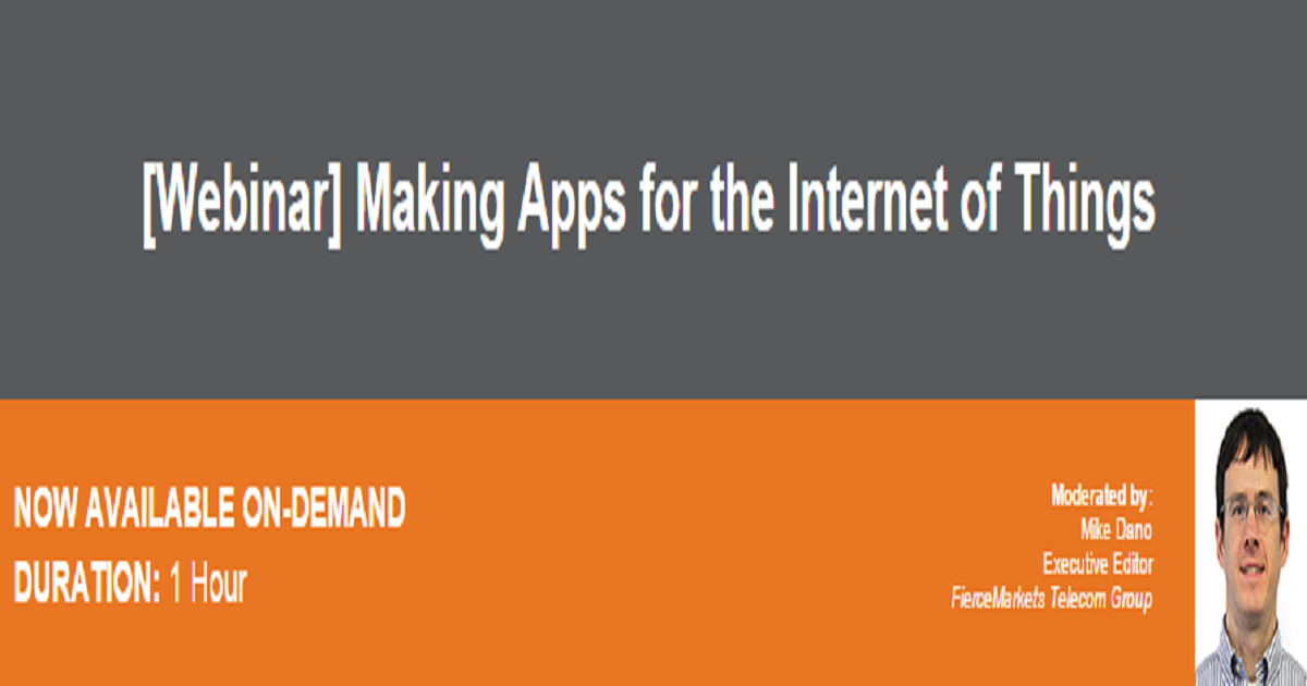 Making Apps for the Internet of Things