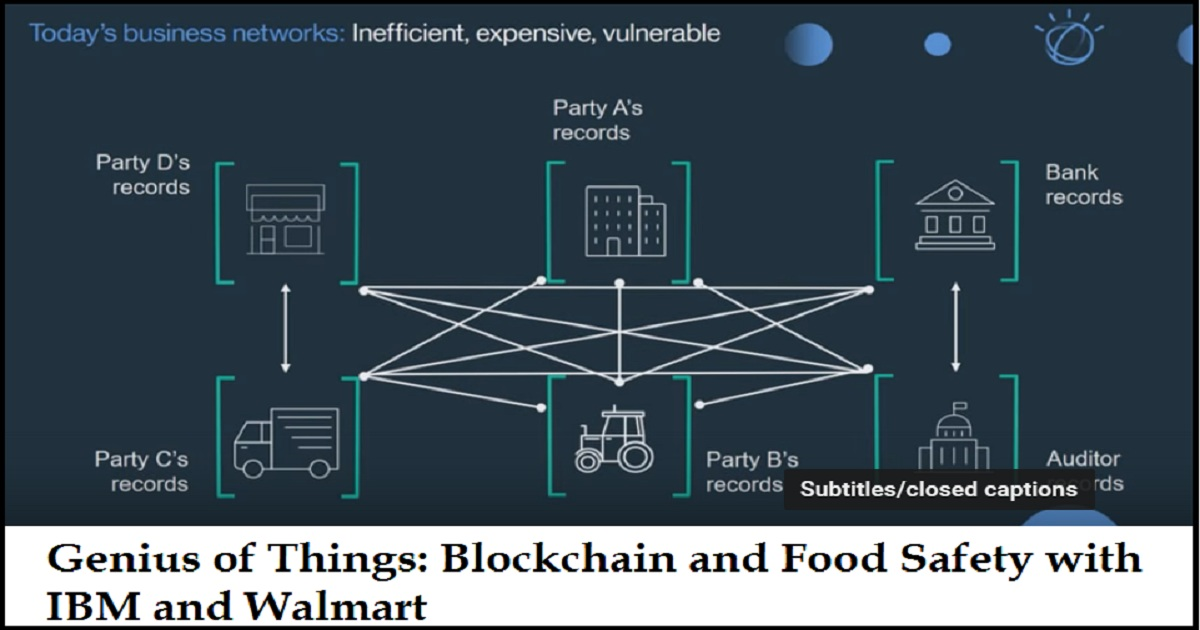 Genius of Things: Blockchain and Food Safety with IBM and Walmart