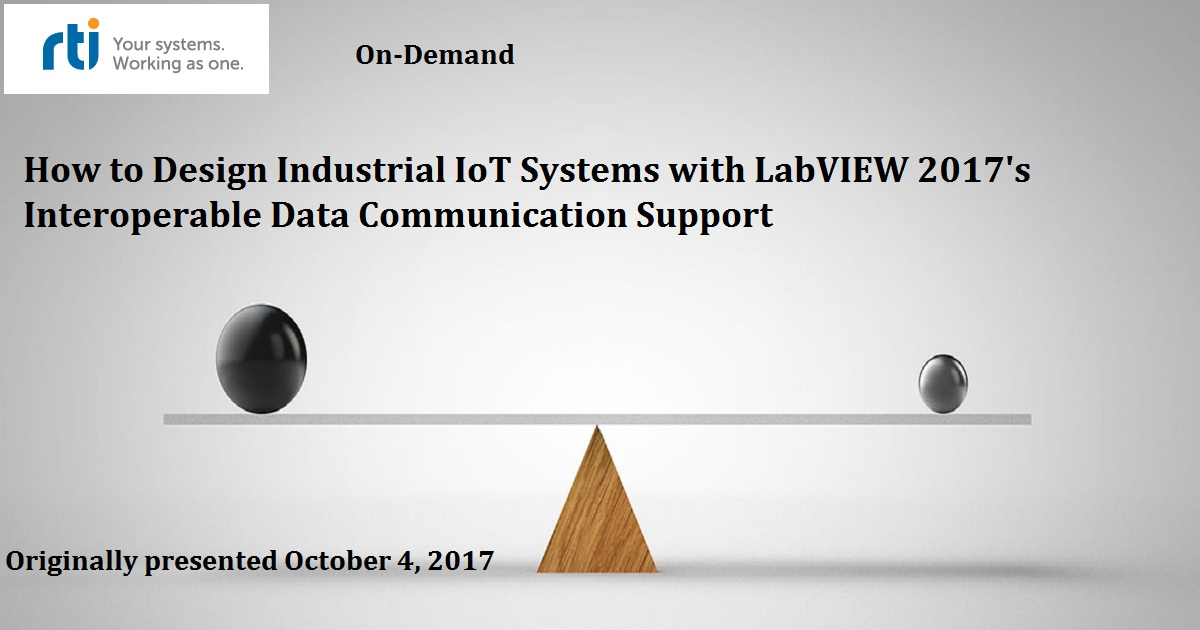 How to Design Industrial IoT Systems with LabVIEW 2017