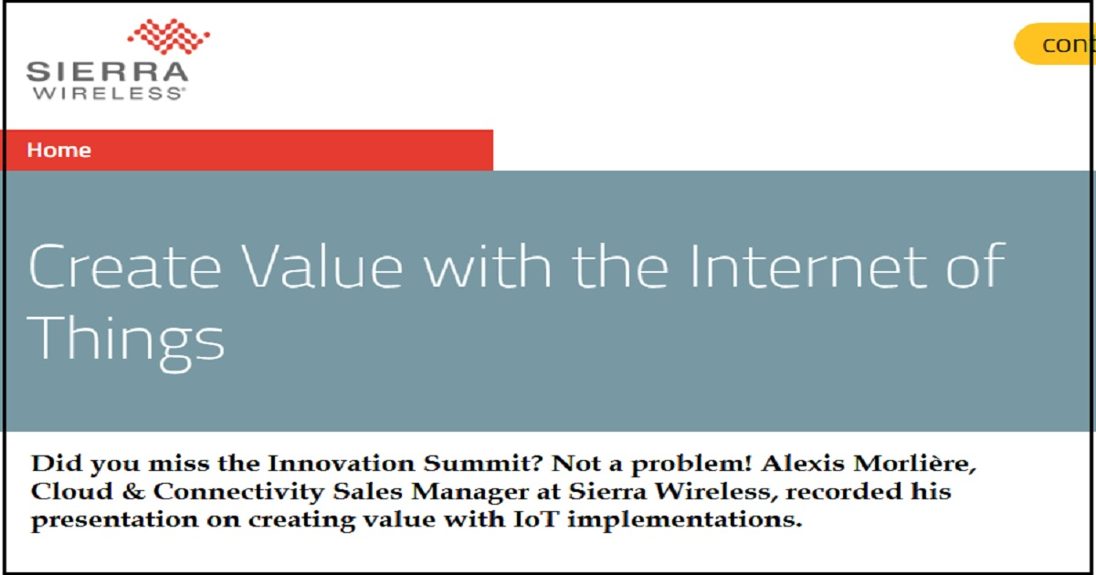 Create Value with the Internet of Things