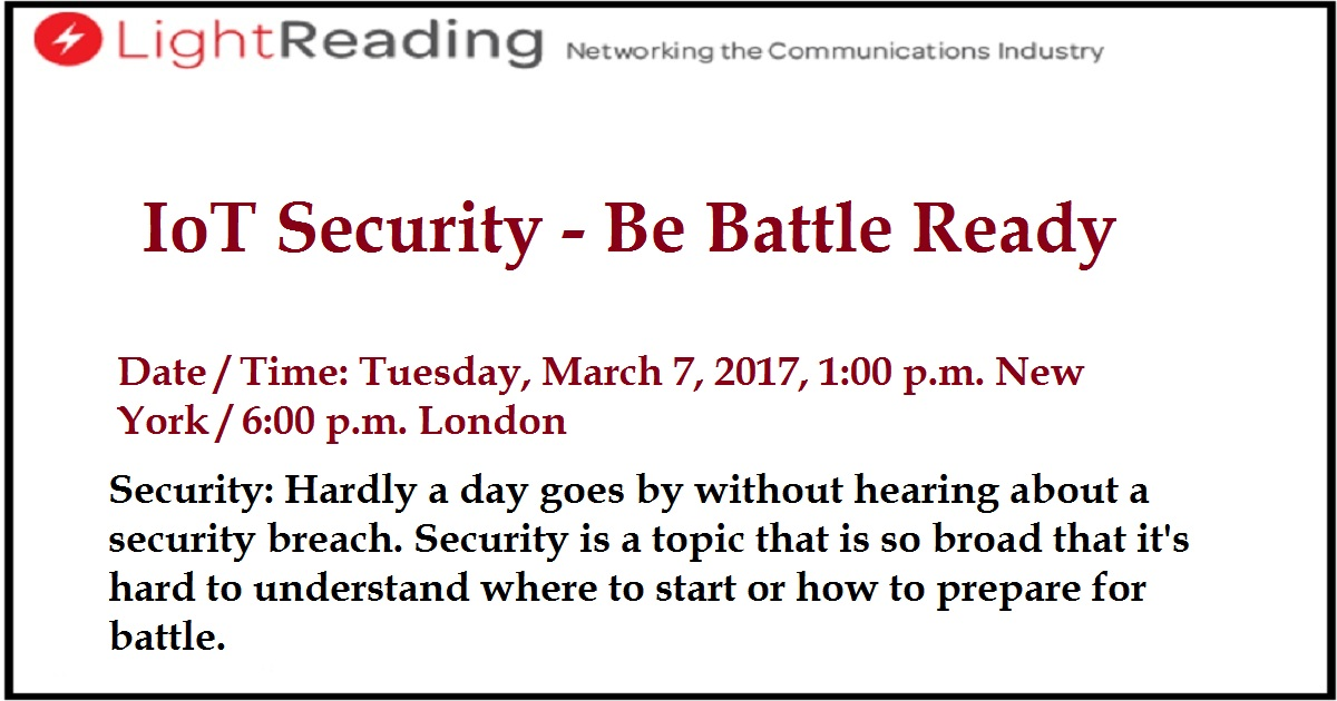 IoT Security - Be Battle Ready
