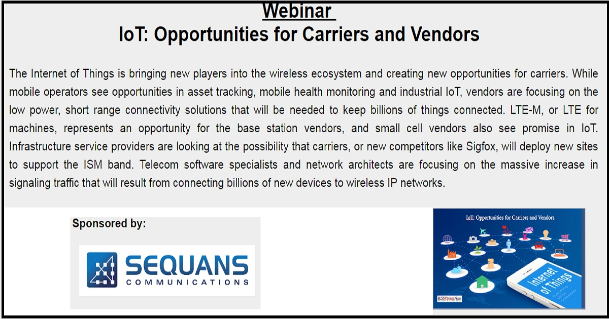 IoT: Opportunities for Carriers and Vendors