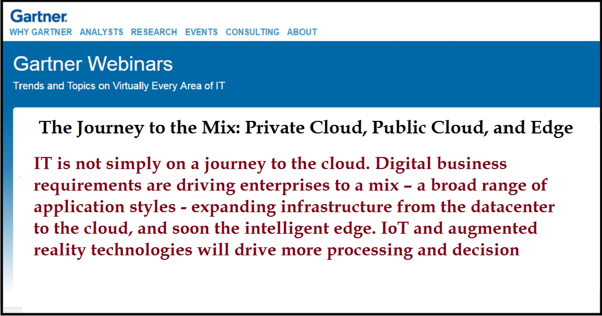The Journey to the Mix: Private Cloud, Public Cloud, and Edge