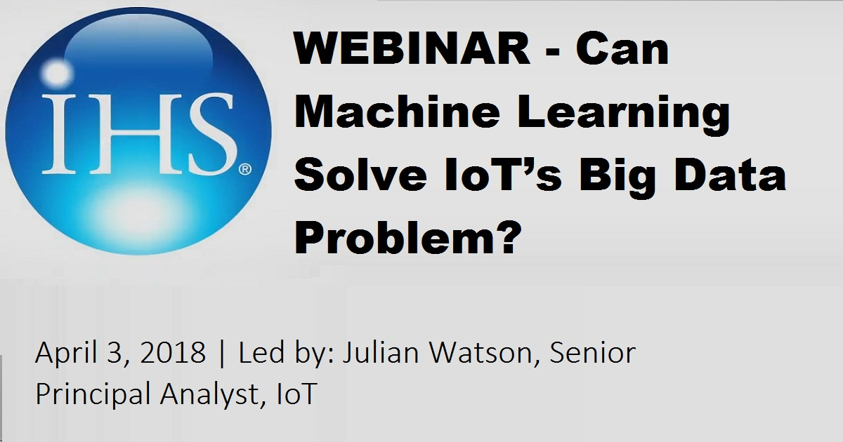 Can Machine Learning Solve IoT's Big Data Problem?