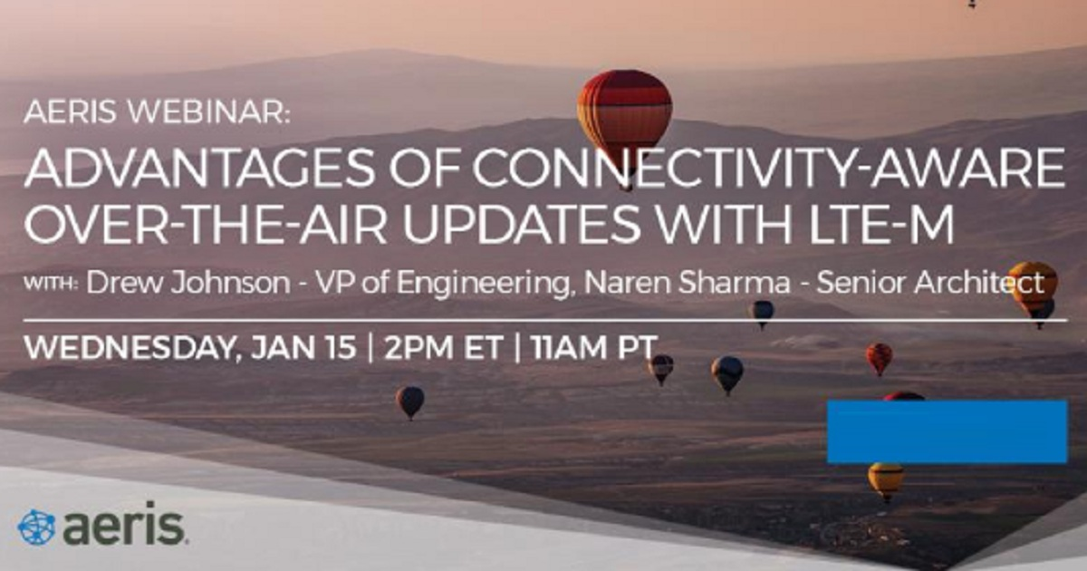 Advantages of Connectivity-Aware Over the Air Updates with LTE-M