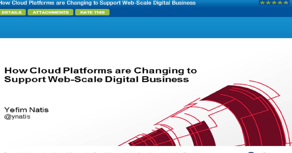 How Cloud Platforms are Changing to Support Web-Scale Digital Business