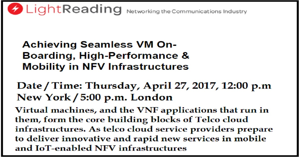 Achieving Seamless VM On-Boarding, High-Performance & Mobility in NFV Infrastructures