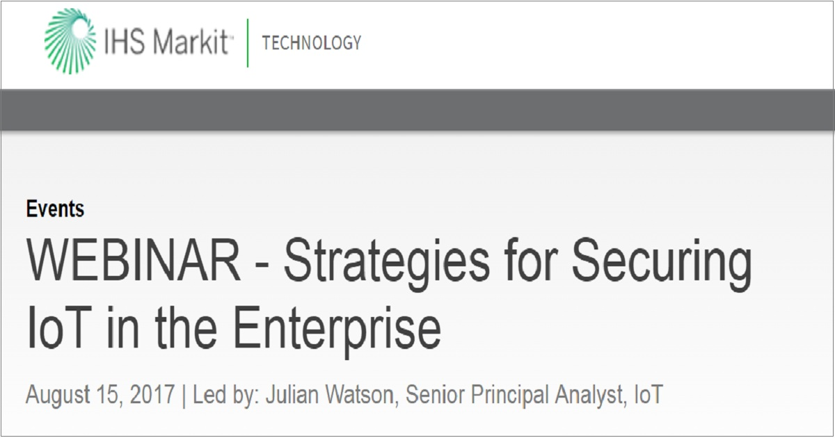 Strategies for Securing IoT in the Enterprise