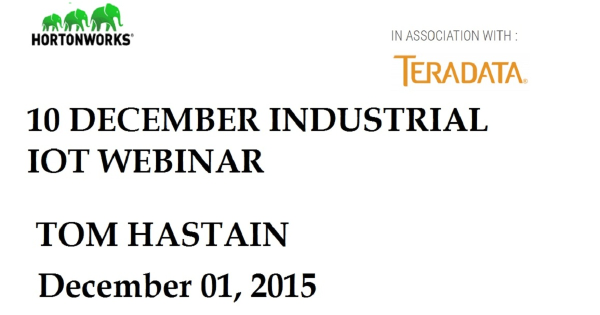 10 December Industrial IoT Webinar – Register Now!