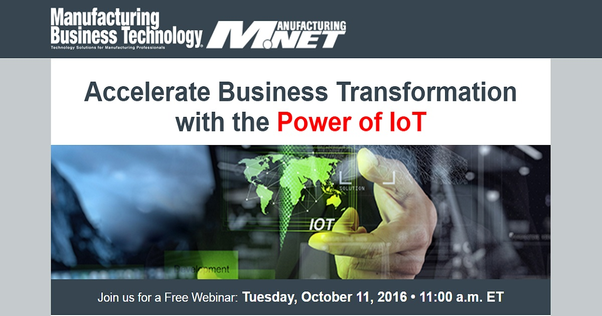 Accelerate Business Transformation with the Power of IoT