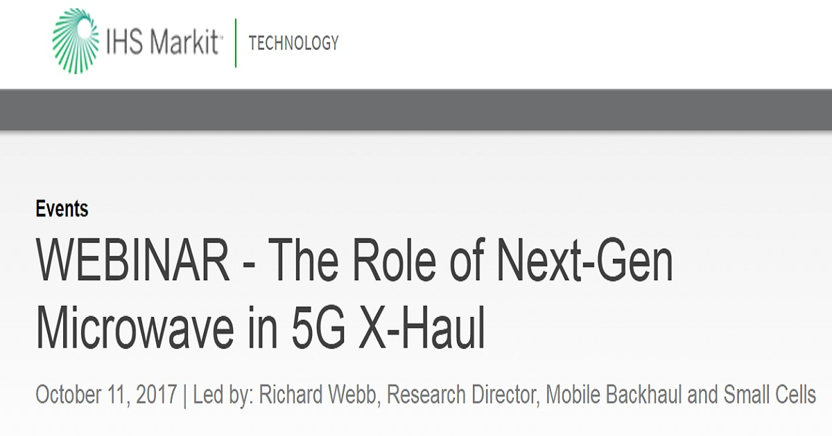 The Role of Next-Gen Microwave in 5G X-Haul