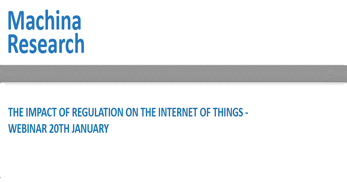 THE IMPACT OF REGULATION ON THE INTERNET OF THINGS