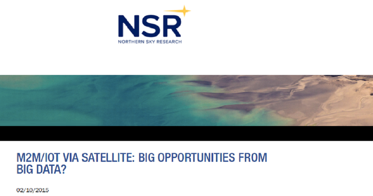 M2M/IOT VIA SATELLITE: BIG OPPORTUNITIES FROM BIG DATA?