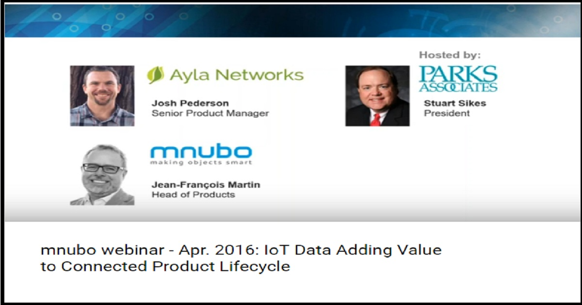 Apr. 2016: IoT Data Adding Value to Connected Product Lifecycle