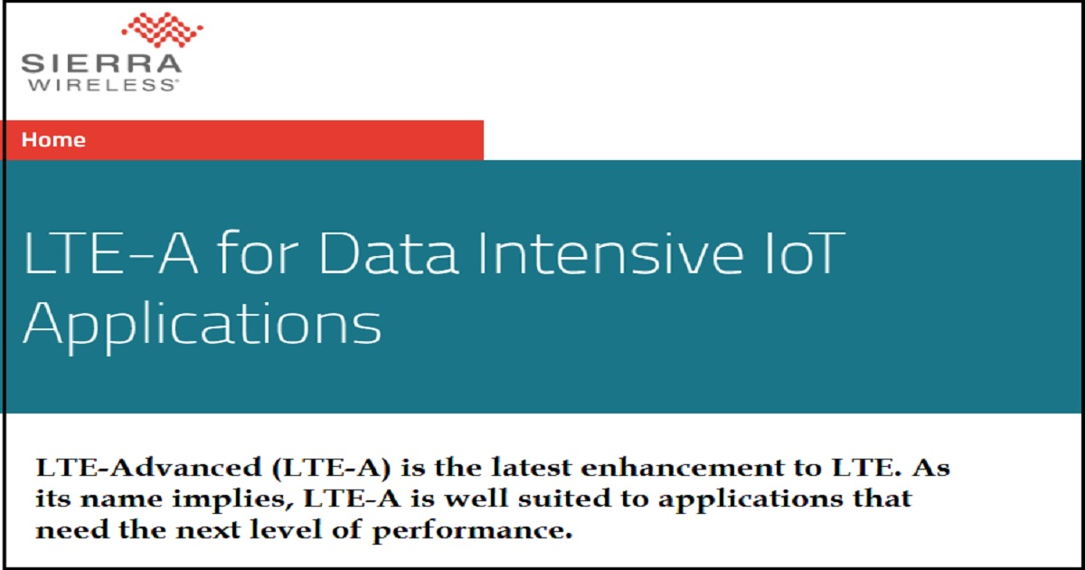 LTE-A for Data Intensive IoT Applications