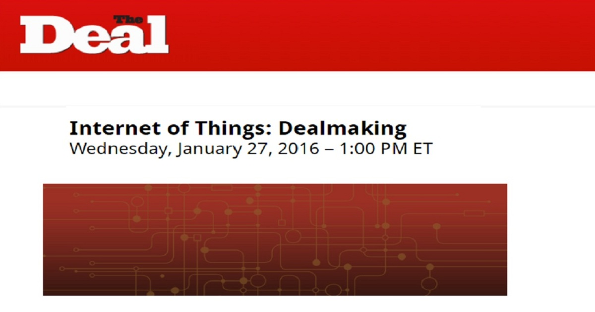 Internet of Things: Dealmaking