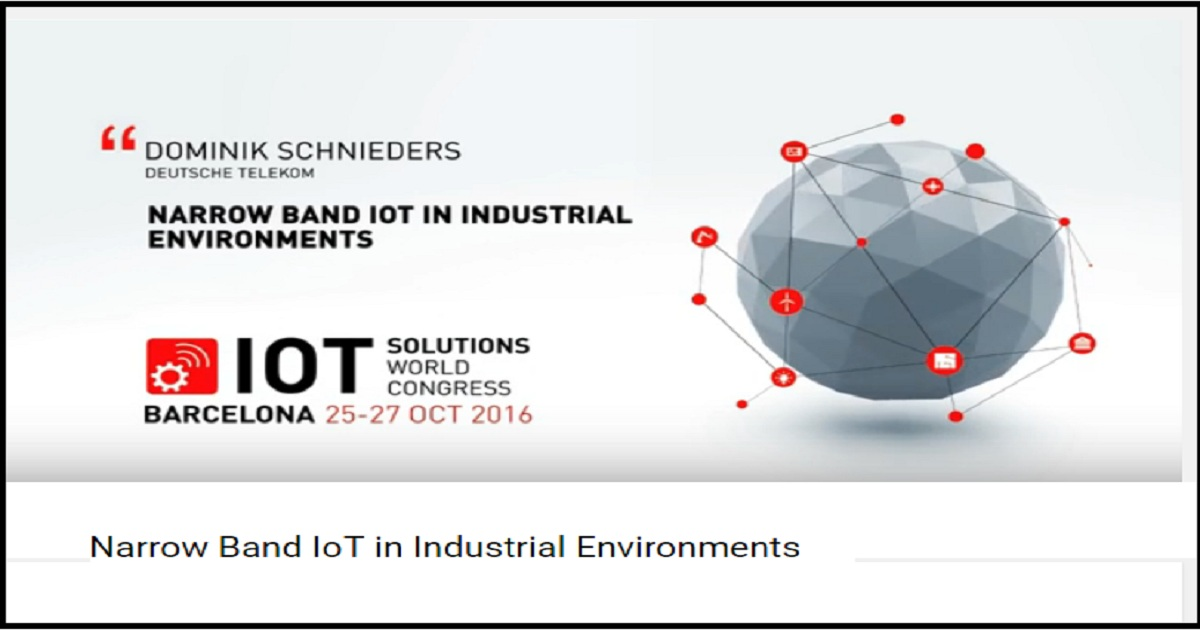 Narrow Band IoT in Industrial Environments
