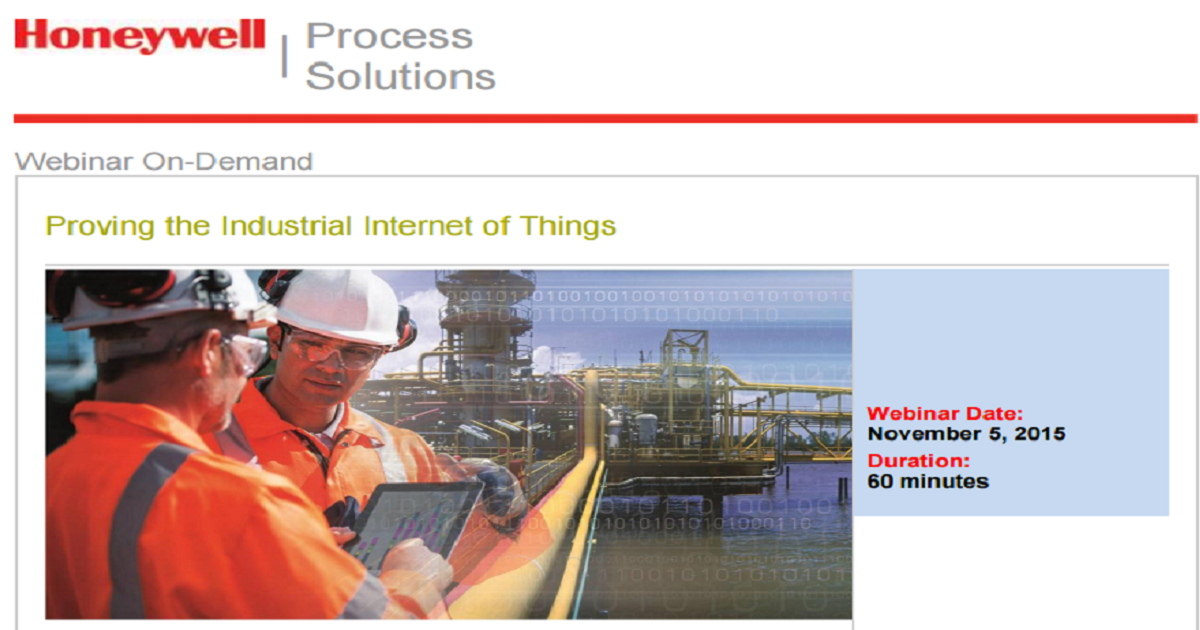 Proving the Industrial Internet of Things