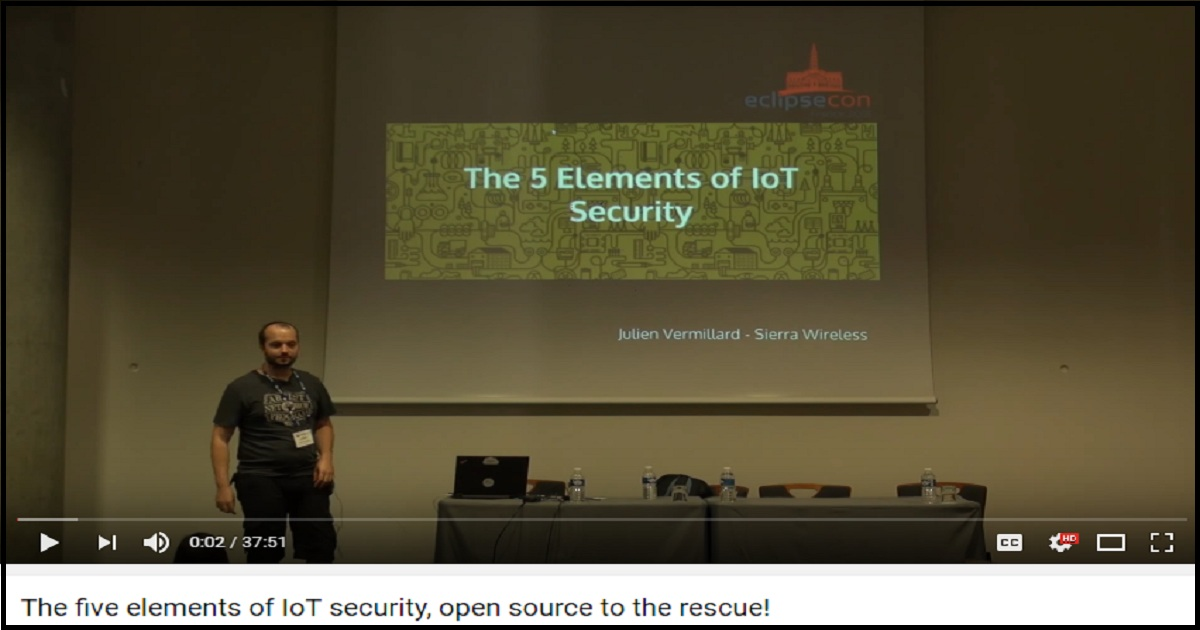 The five elements of IoT security, open source to the rescue!