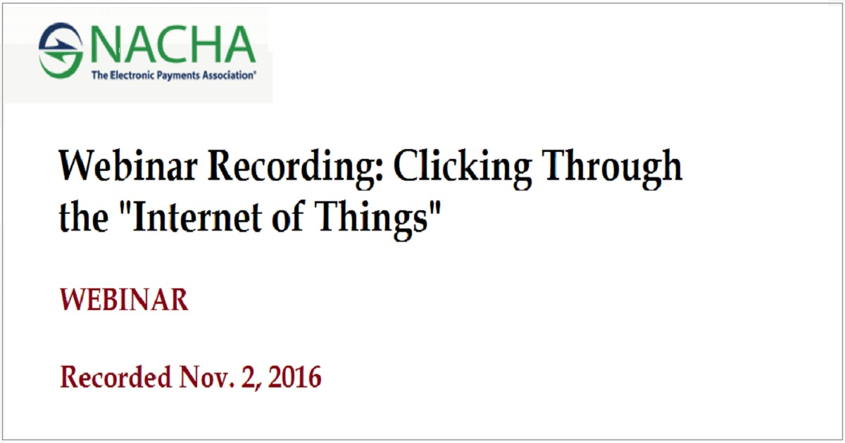 "Clicking Through the ""Internet of Things"""