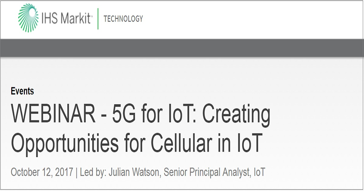 5G for IoT: Creating Opportunities for Cellular in IoT