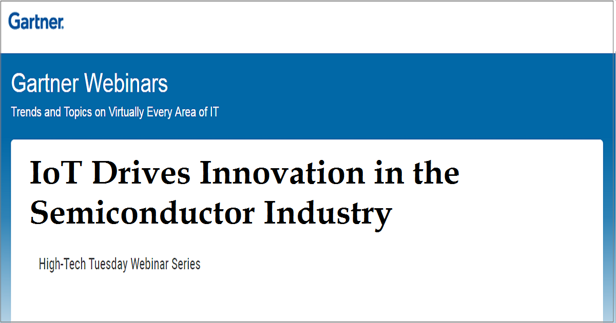 IoT Drives Innovation in the Semiconductor Industry