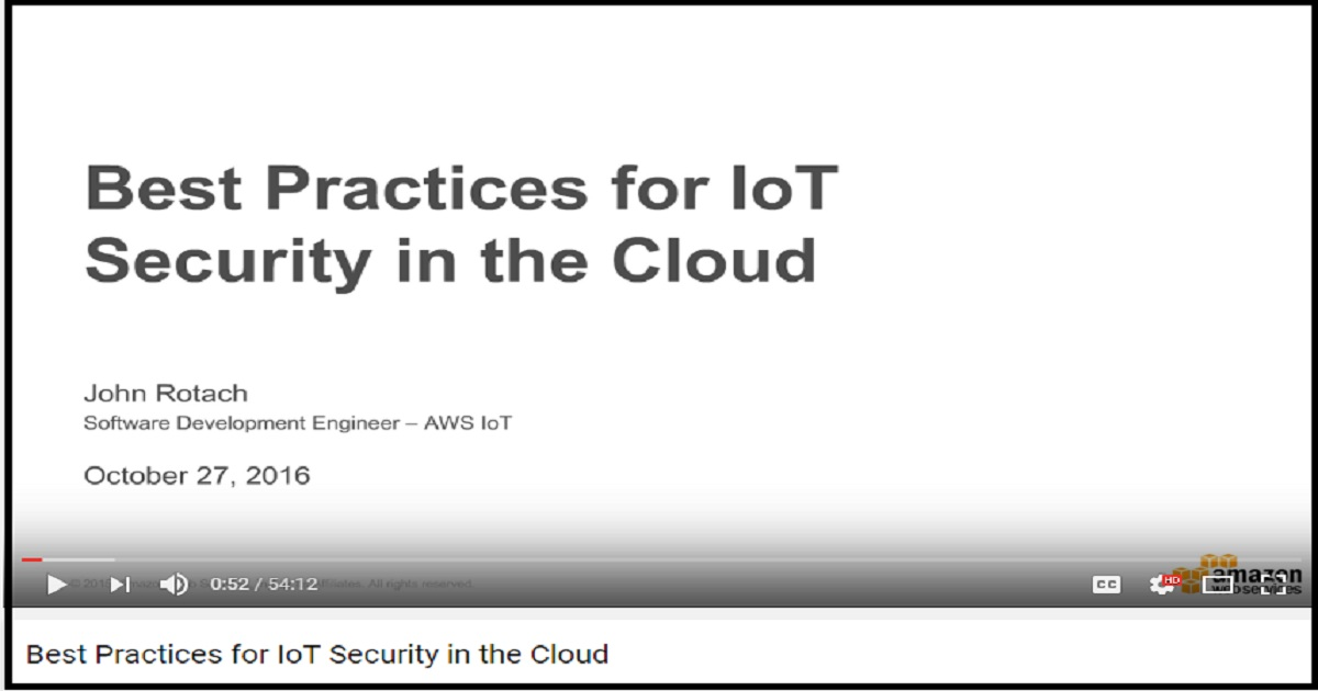 Best Practices for IoT Security in the Cloud