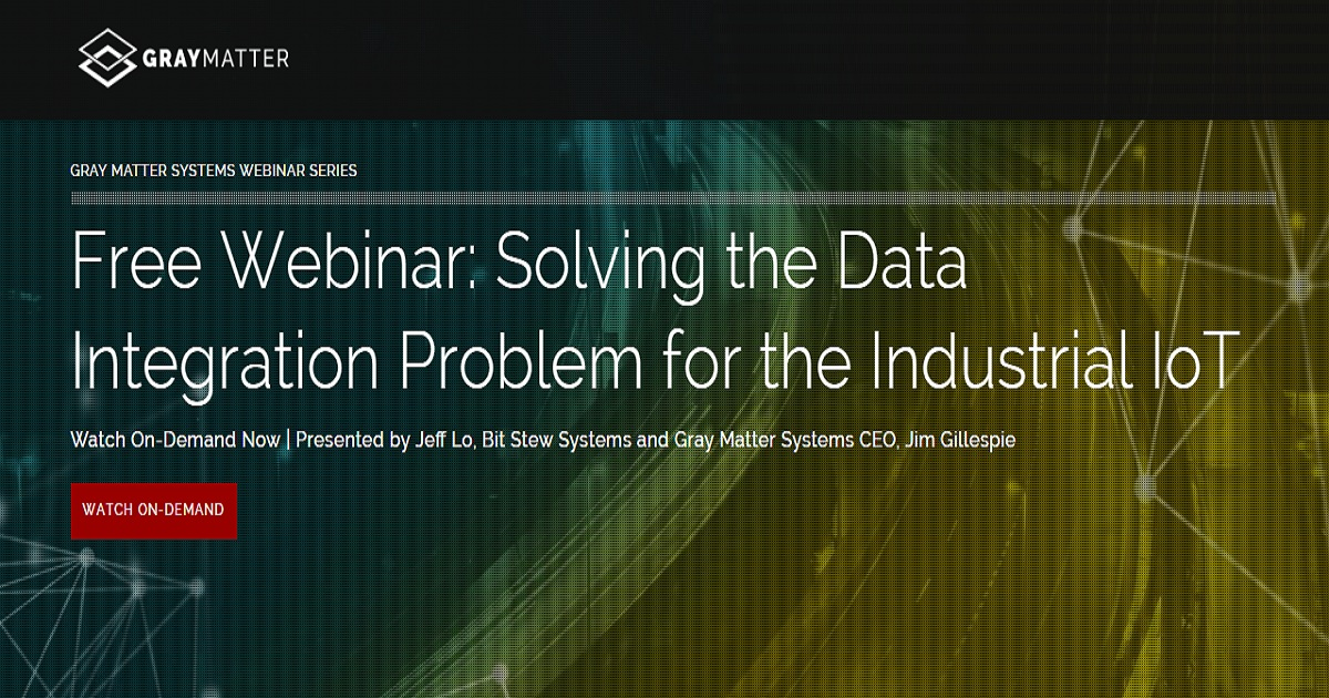 Solving the Data Integration Problem for the Industrial IoT