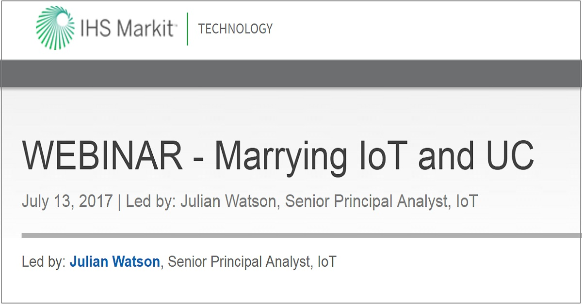 Marrying IoT and UC