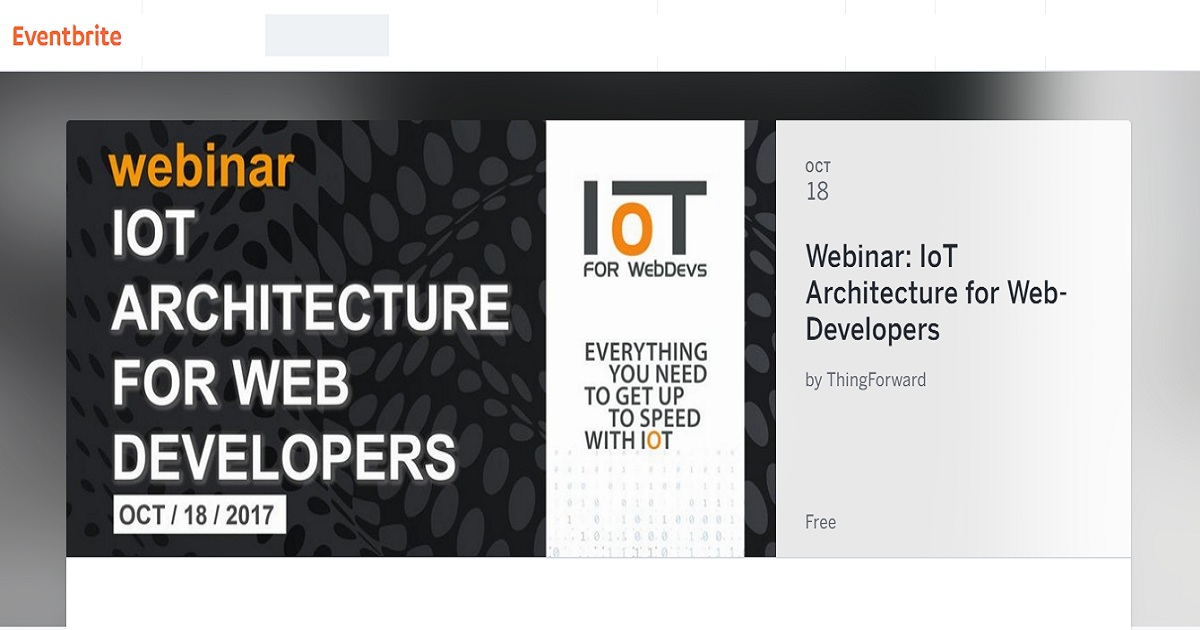 Webinar: IoT Architecture for Web-Developers