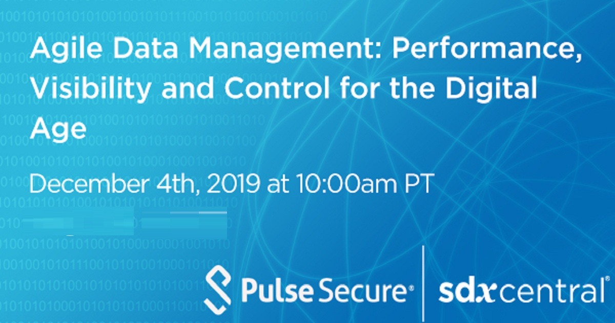 Agile Data Management: Performance, Visibility and Control for the Digital Age