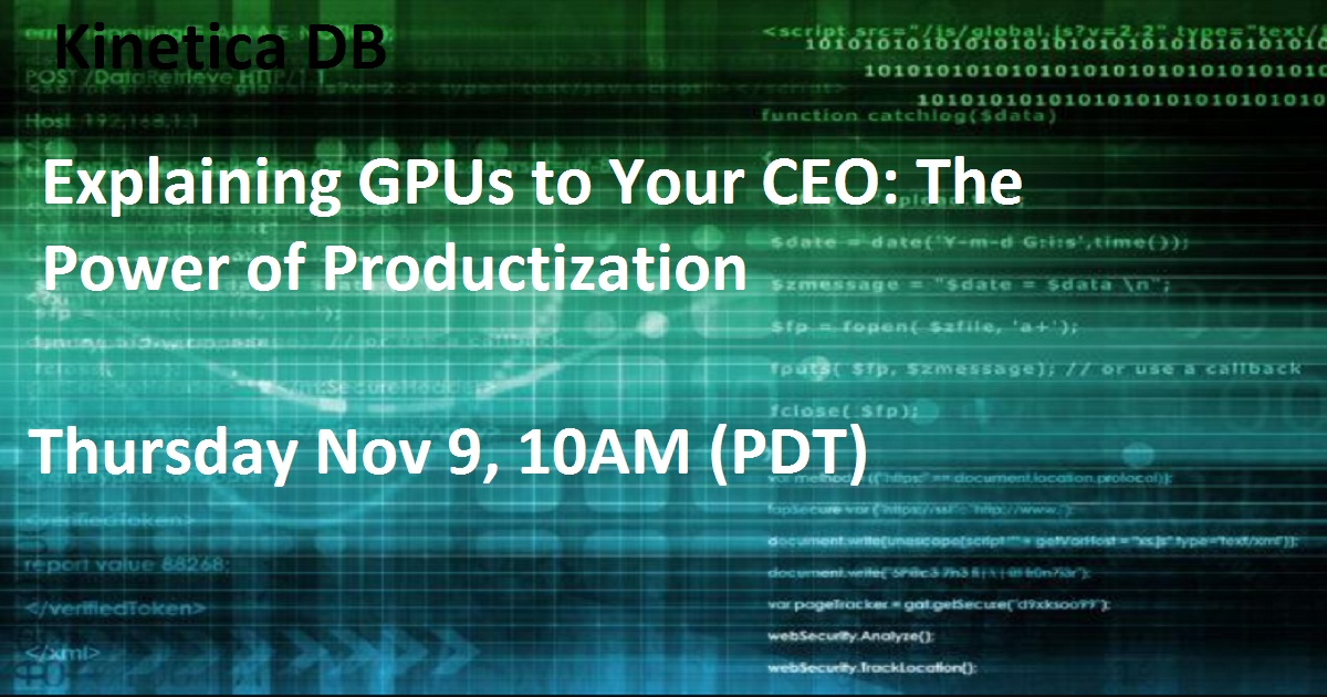 Explaining GPUs to Your CEO: The Power of Productization