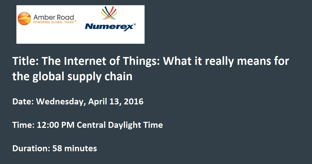 The Internet of Things: What it really means for the global supply chain