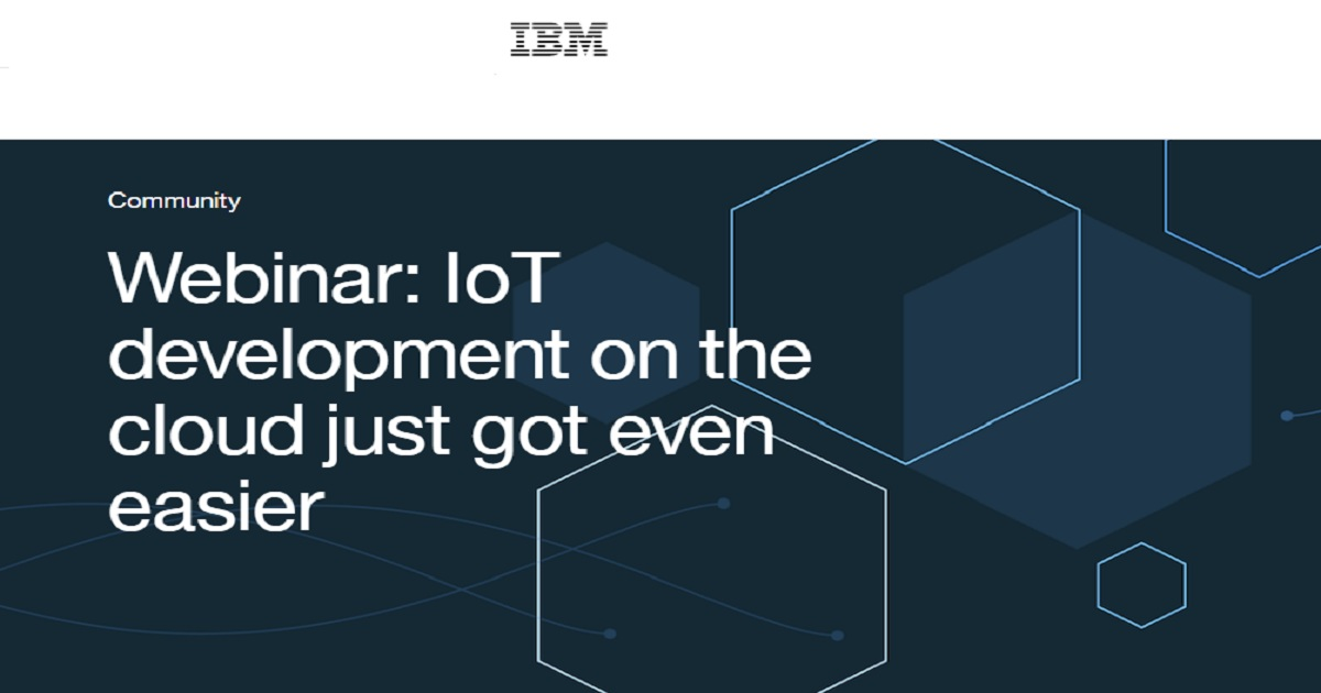 IoT development on the cloud just got even easier