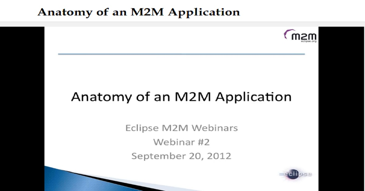 Anatomy of an M2M Application