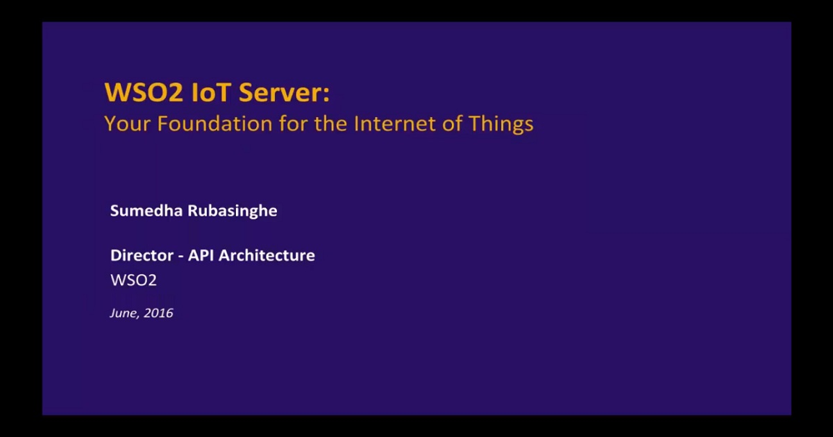 An Introduction to the WSO2 IoT Server