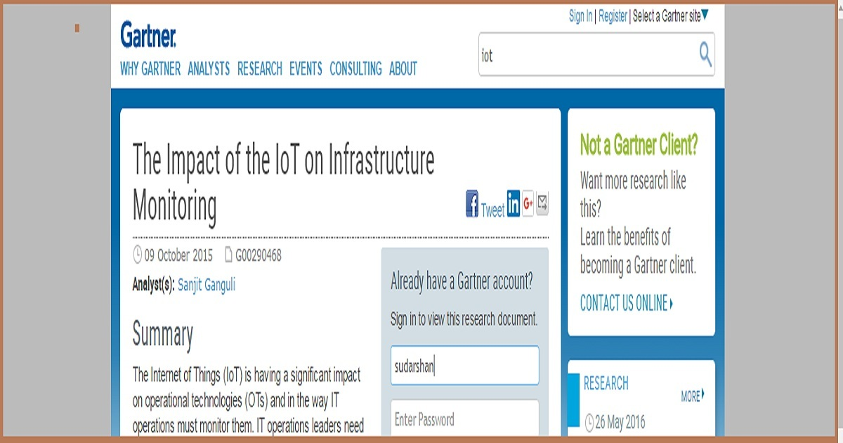 The Impact of the IoT on Infrastructure Monitoring