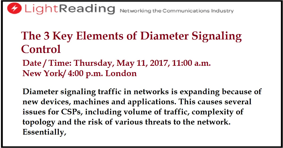 The 3 Key Elements of Diameter Signaling Control