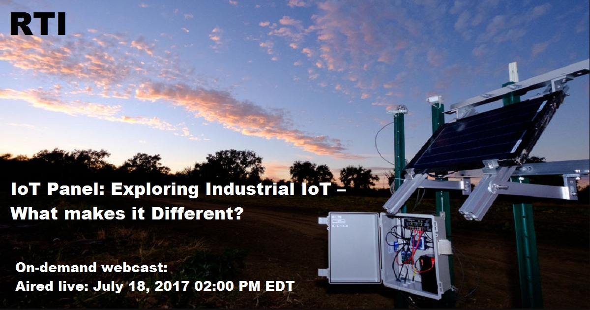 IoT Panel: Exploring Industrial IoT – What Makes It Different?