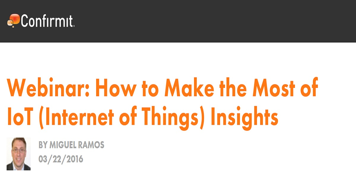 How to Make the Most of IoT (Internet of Things) Insights