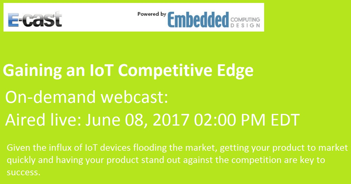 Gaining an IoT Competitive Edge